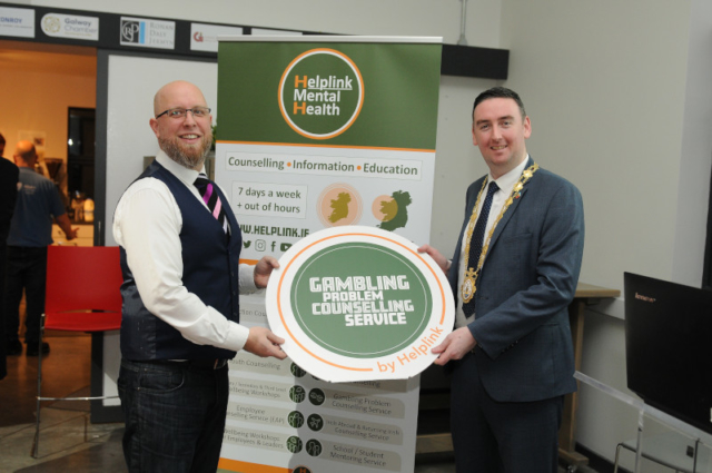 Lochlann Scott, CEO HelpLink with Mayor of Galway Cllr. Mike Cubbard